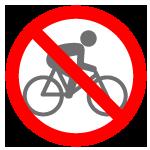 Itinerario non accessibile in bici